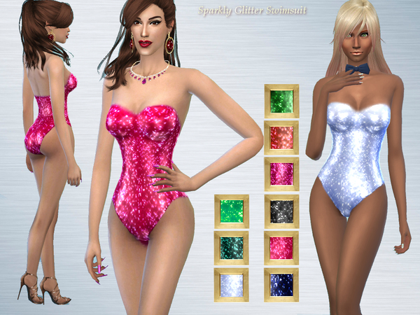 Really Sparkly Glitter Swimsuit by alin2