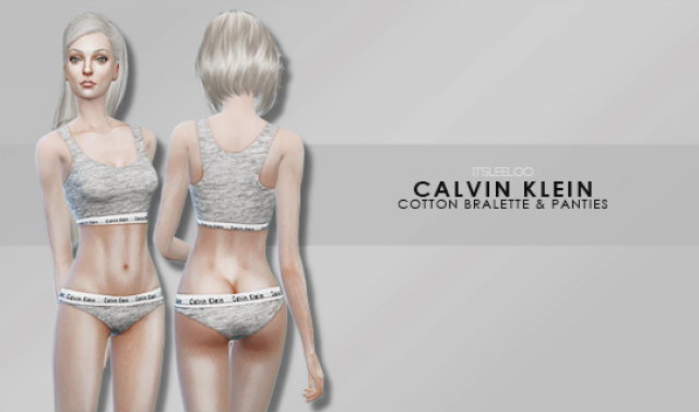CALVIN KLEIN - COTTON BRALETTE & PANTIES by its-leeloo