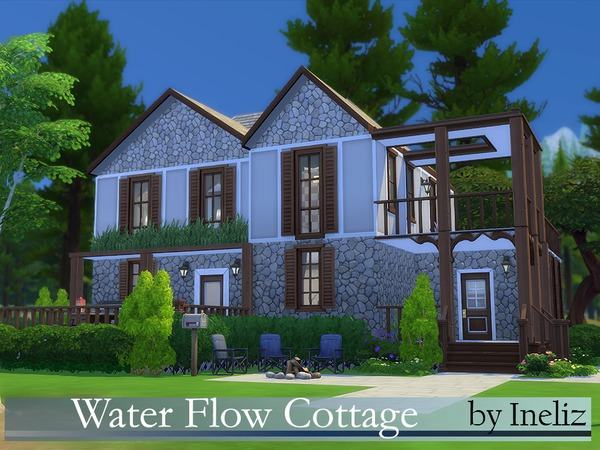Water Flow Cottage by Ineliz