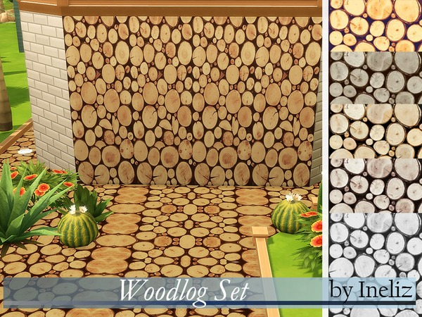 Woodlog Set by Ineliz