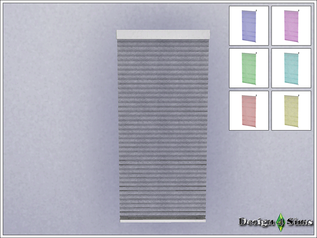 Длинные жалюзи Tall Cellular Shades cordless by Design4Sims