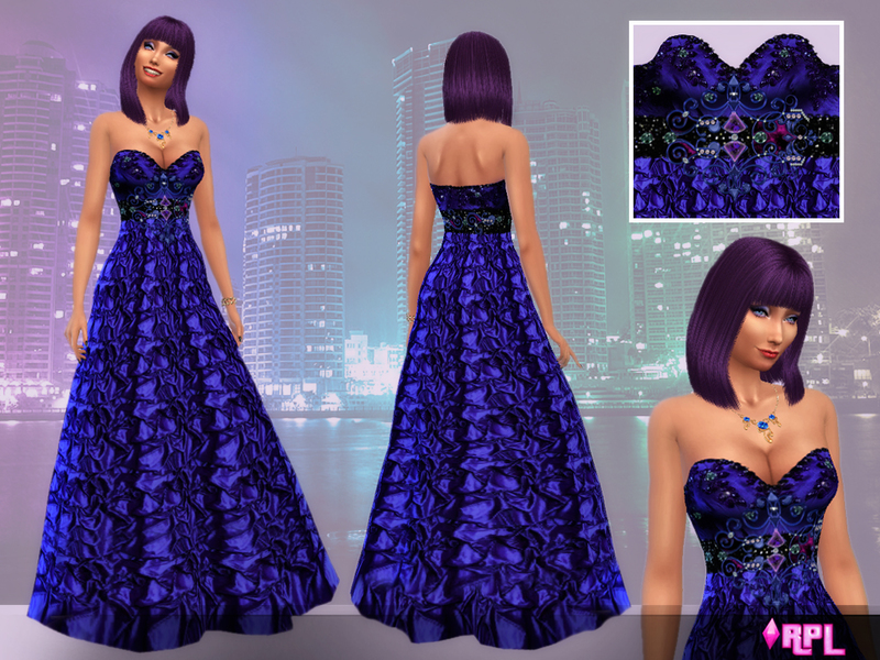 Sapphire Navy Blue dress BY RobertaPLobo