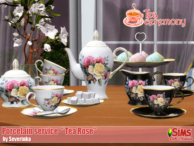 "Porcelain service ""Tea Rose"" by Severinka"