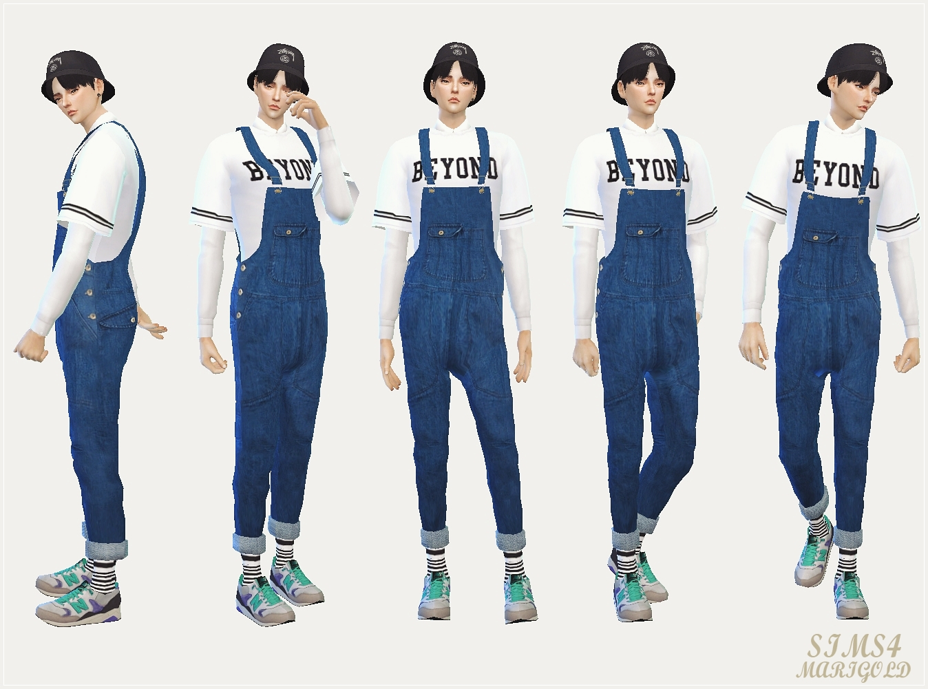 male dungarees by marigold