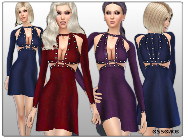 Cashmere Dress with Metal Details by simseviyo