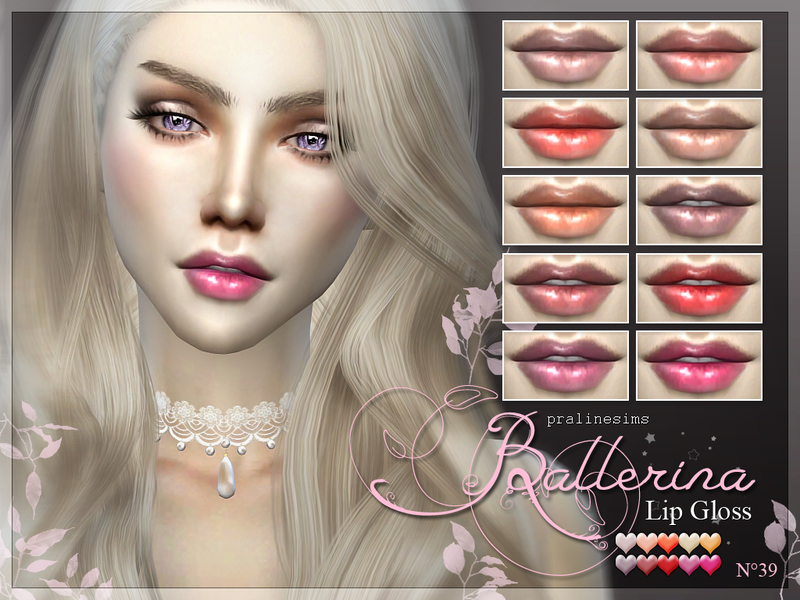 Ballerina Lip Gloss  N39 BY Pralinesims