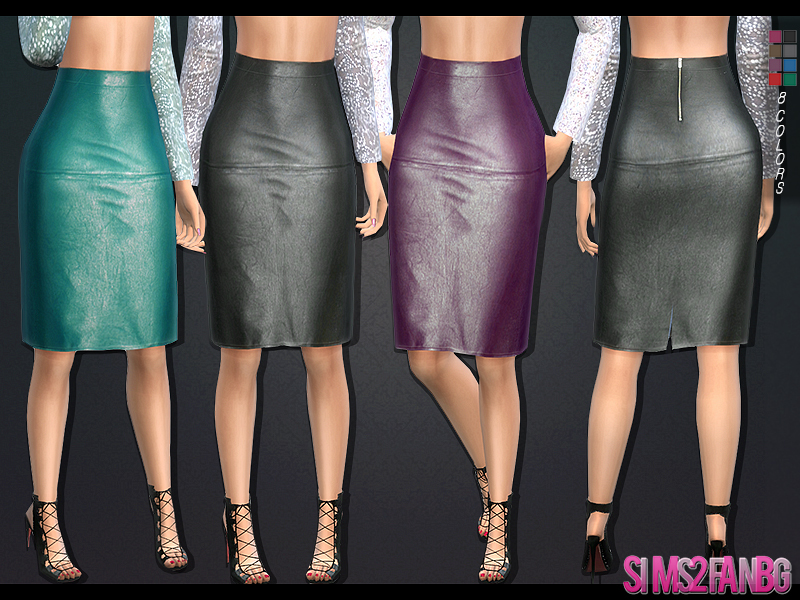 104 - Leather pencil skirt BY sims2fanbg