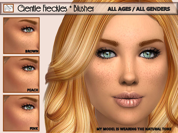 Gentle Freckles + Blusher N1 by MartyP