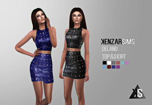 Kenzar Sims  Clothing, Female : Delano top&skirt