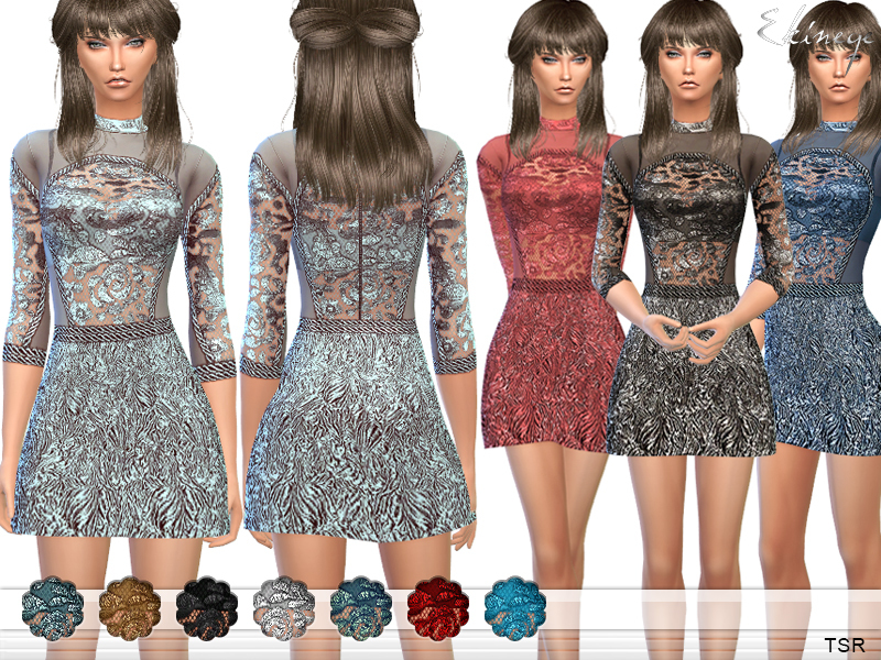 Short Dress With Lace Bodice BY ekinege