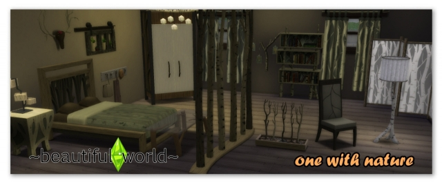 TS3 One With Nature Bedroom Conversion by Beautiful-world-sims