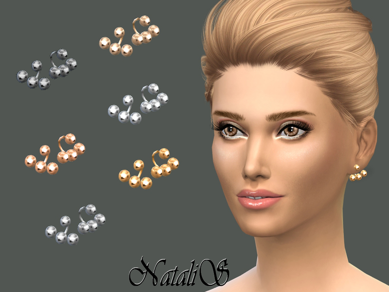 NataliS_Metal balls ear jackets