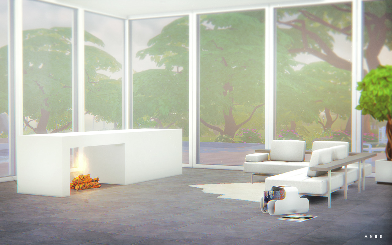 Modern Fireplace by SimsAlachie