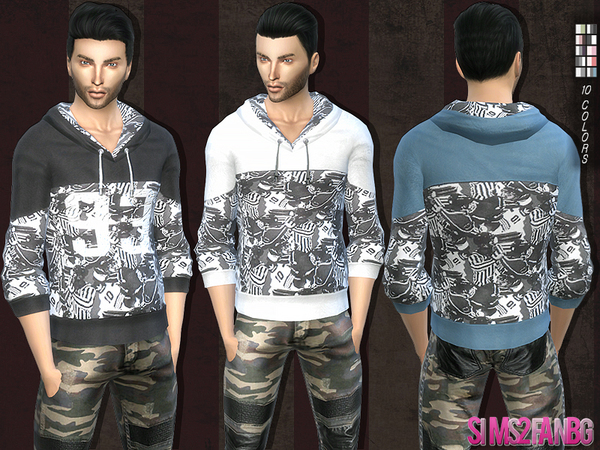 106 - Casual sweatshirt by sims2fanbg