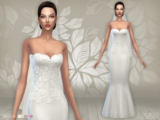 WEDDING DRESS 02 & VEIL by BEO