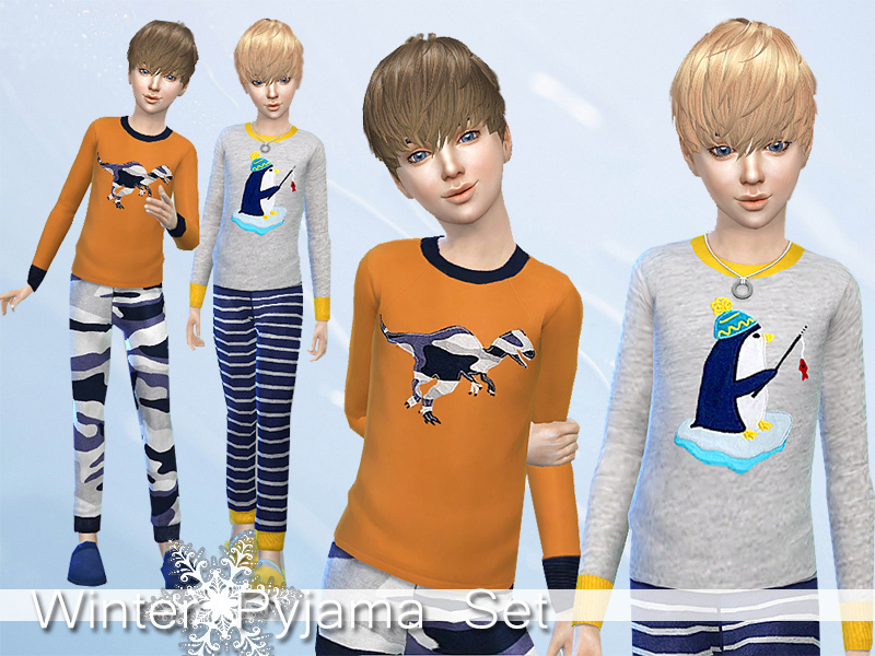 Winter Pyjama Set for Boys BY Pinkzombiecupcakes