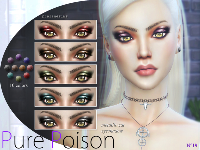 Pure Poison ~ Metallic Cat Eyeshadow  N19  BY Pralinesims