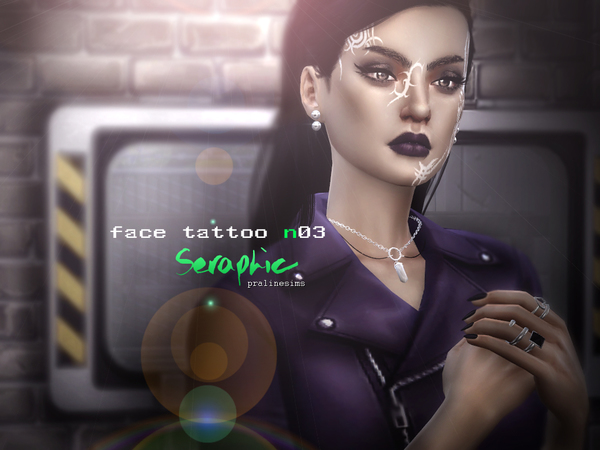 Seraphic ~ Tribal Face Tattoo  N03 by Pralinesims