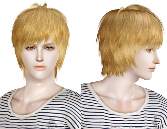 Raonjena Sims3 Male Hair04 Edit ( Retexture + Realpha ) by YURI