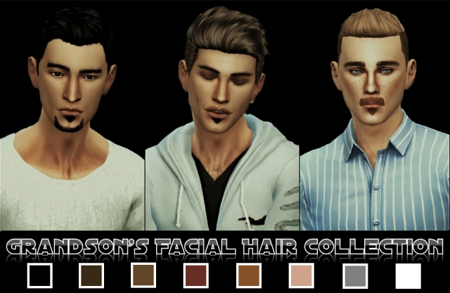 Grandsons Facial Hair Collection by Magentasims