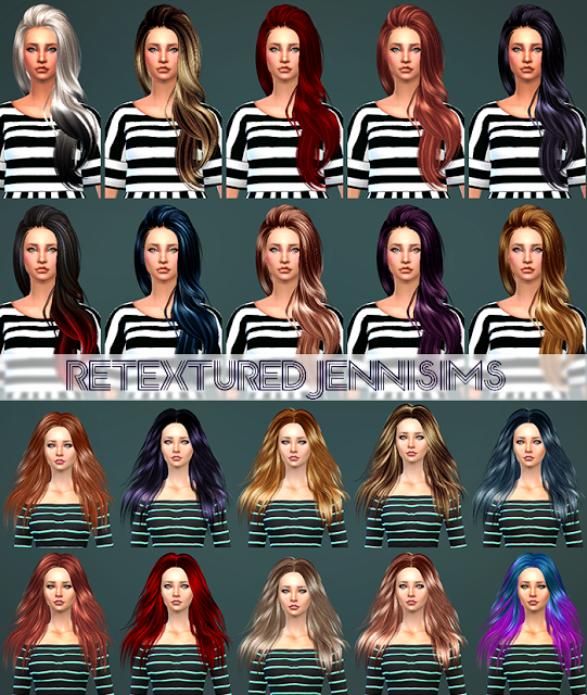 ButterflySims and SkySims Hair Retexture by JenniSims
