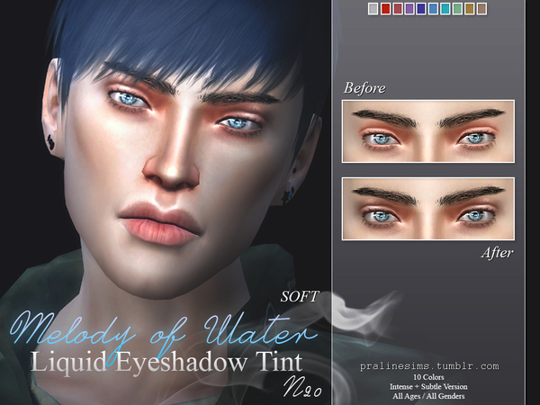 Melody of Water ~ Liquid Eyeshadow Tint  N20 by Pralinesims
