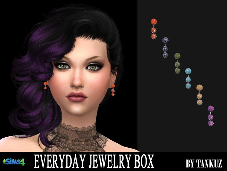 Everyday Jewelry Box - Earrings 05 by Tankuz