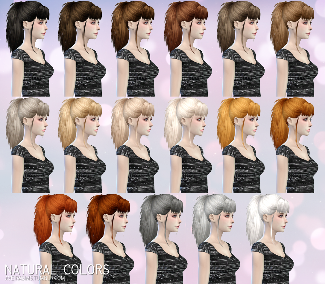 SkySims 217 Hair Retexture by AveiraSims