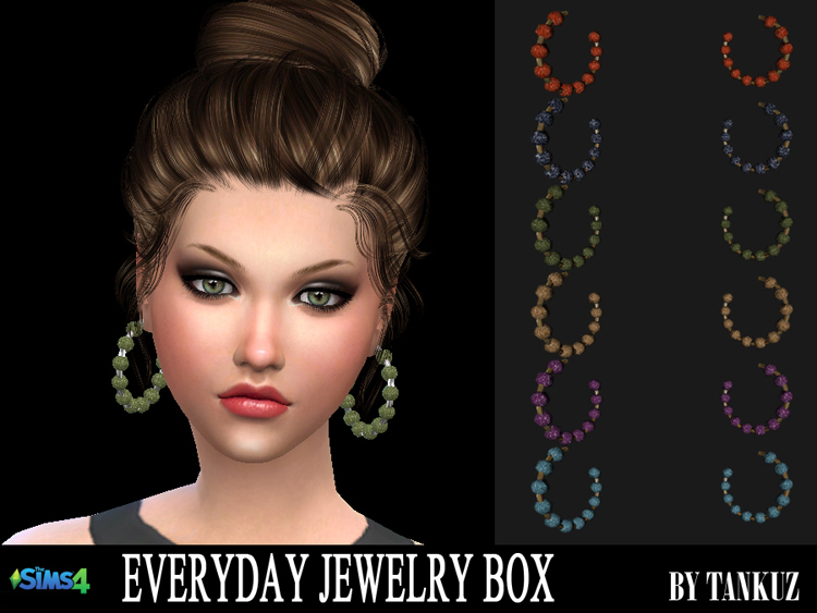 Everyday Jewelry Box - Earrings 02 by Tankuz