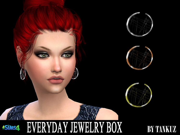 Everyday Jewelry Box - Earrings 03 by Tankuz