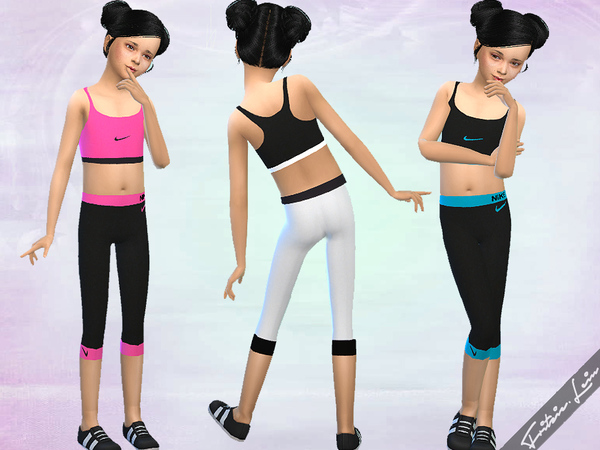 Girls Nike Workout Set by Fritzie.Lein