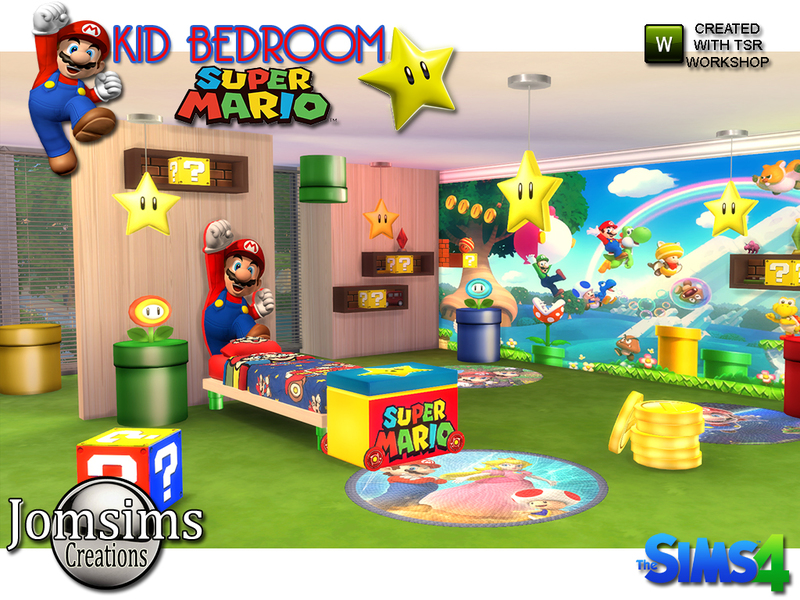 Super mario kids bedroom BY jomsims
