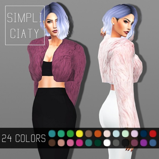 SHORT FUR JACKET (ACC) By SIMPLICIATY