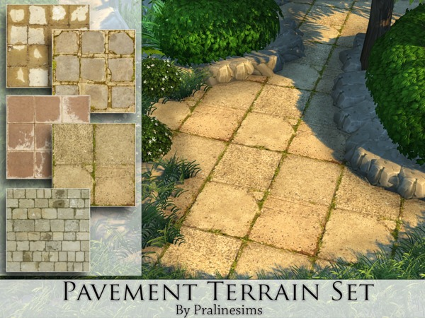 Pavement Terrain Set by Pralinesims