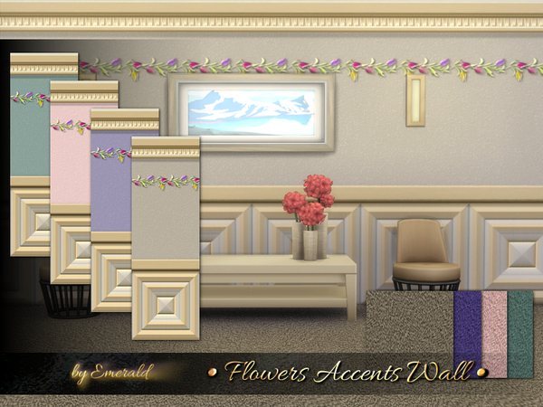 Flowers Accents Wall by emerald