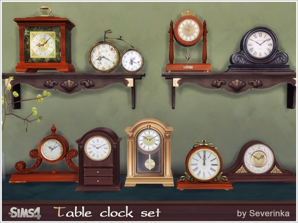 Table classic clocks by Severinka