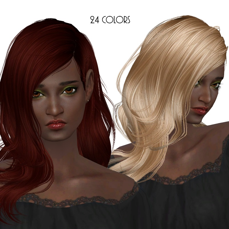 Newsea Ivory Tower Hair Conversion and Retexture by Dachs