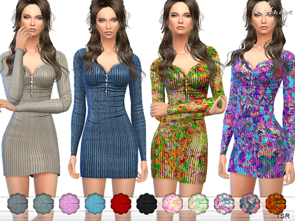 Ribbed Thermal Dress by ekinege