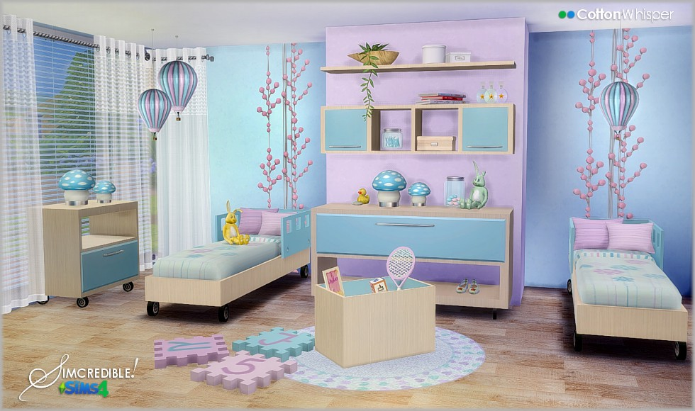 Cotton Whisper Bedroom Set by Simcredible Designs