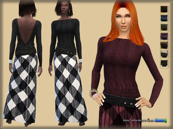 Dress Plaid fabric by bukovka