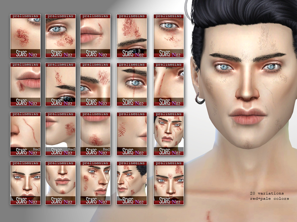 BRUISED Face + Body Scars by Pralinesims