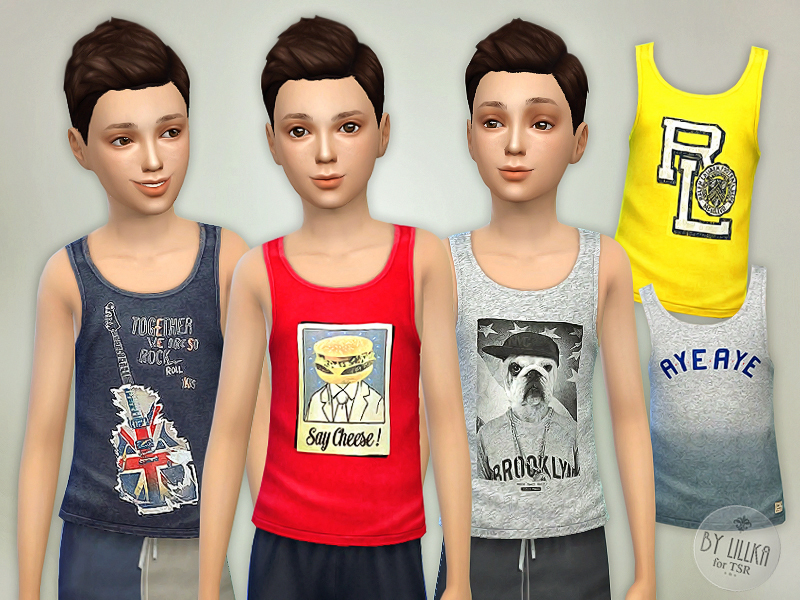 Tank Top Collection P02 BY lillka