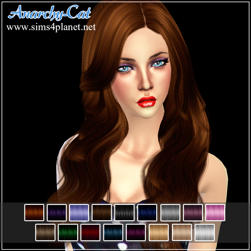 Cazy_Hannah - Female Hairstyle by Anarchy-Cat