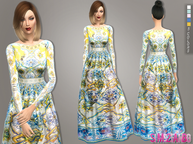 110 - Long designer dress BY sims2fanbg