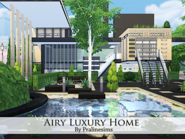 Airy Luxury Home by Pralinesims