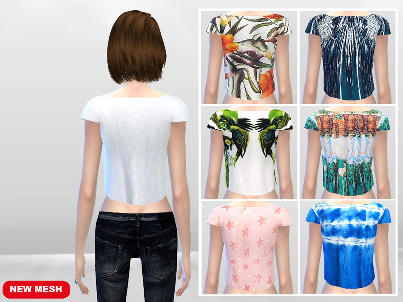 Hanging Crop Top Tees   BY McLayneSims