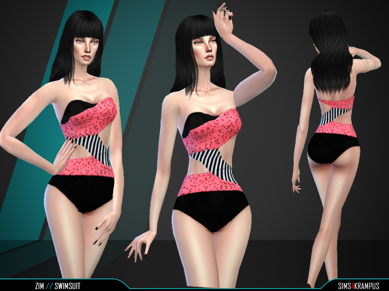 Zim Swimsuit   BY SIms4Krampus
