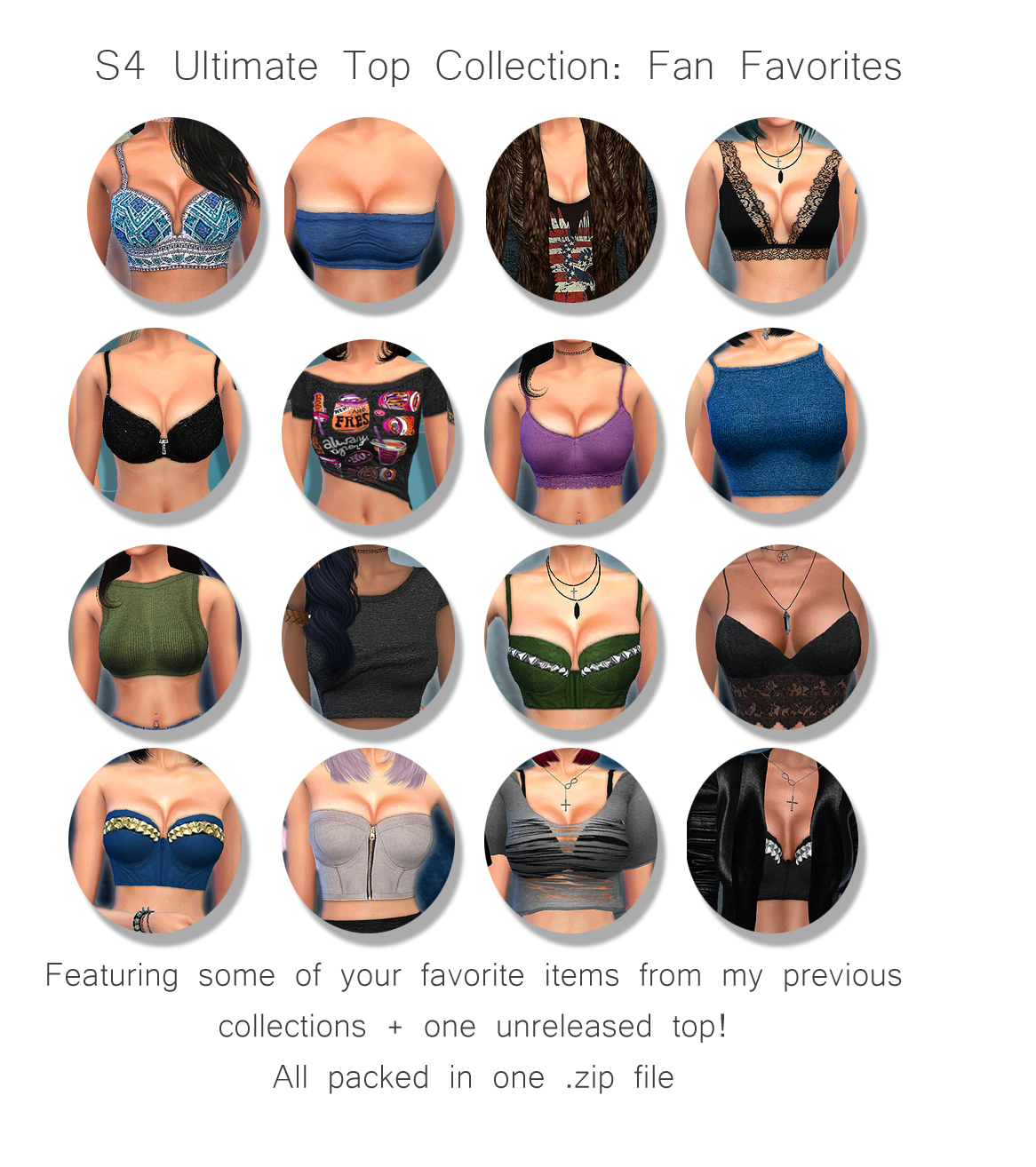 Ultimate Tops Collection for Females by Cleotopia