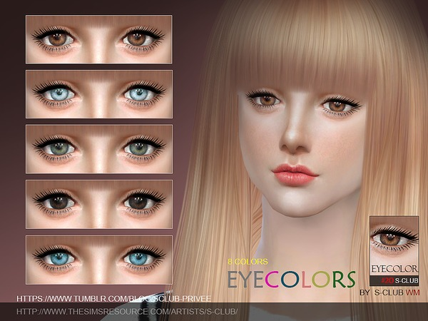 S-Club WM thesims4 Eyecolor 20