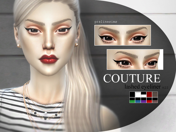 COUTURE Lashed Eyeliner  N22 by Pralinesims
